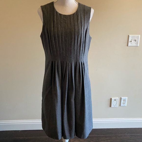 Grey wool business dress